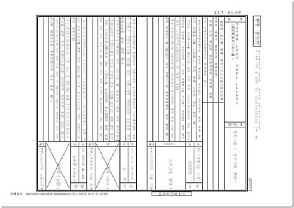 日本の戸籍謄本日韓翻訳見本/拡大