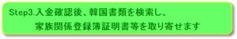 取り寄せ(及び翻訳)のみご依頼される方の韓国戸籍取り寄せ(及び翻訳)のご依頼の流れstep3